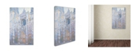 "Trademark Global Claude Monet 'Rouen Cathedral West Facade 1894' Canvas Art - 24"" x 16"""