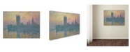 "Trademark Global Claude Monet 'The Houses of Parliament Sunset' Canvas Art - 32"" x 24"""