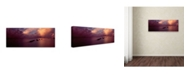 "Trademark Global David Evans 'Afterglow 2-Maldives' Canvas Art - 16"" x 47"""