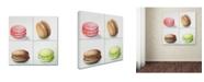 "Trademark Global Jennifer Redstreake '4 Macarons' Canvas Art - 14"" x 14"""