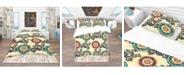 Design Art Designart 'Floral Paisley Ethnic Background' Bohemian and Eclectic Duvet Cover Set - Twin