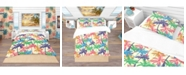 Design Art Designart 'Palm Pattern A' Tropical Duvet Cover Set - King