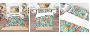 Design Art Designart 'Tropical Pattern' Tropical Duvet Cover Set - Queen