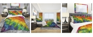 Design Art Designart 'Colorful Rhombus Pattern' Modern Duvet Cover Set - Queen