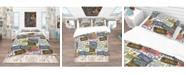 Design Art Designart 'Us California Licence Plates' Modern and Contemporary Duvet Cover Set - Queen