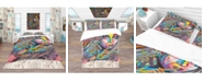 Design Art Designart 'Woman Portrait In Your Dreams' Bohemian and Eclectic Duvet Cover Set - Twin