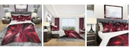 Design Art Designart 'Red Implosion' Modern and Contemporary Duvet Cover Set - King