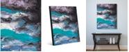 "Creative Gallery Hombwe Beta Abstract Portrait Metal Wall Art Print - 16"" x 20"""