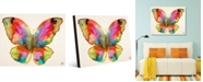 """Creative Gallery Prism Butterfly Watercolor Abstract Portrait Metal Wall Art Print - 16"""" x 20"""""""