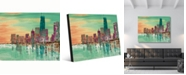 """Creative Gallery Chicago Evening Abstract Cityscape Portrait Metal Wall Art Print - 24"""" x 36"""""""