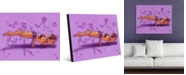 "Creative Gallery Yoga Pose One Portrait Metal Wall Art Print - 16"" x 20"""