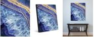 "Creative Gallery Gold Trimmed Geode Hauyne Portrait Metal Wall Art Print - 20"" x 24"""