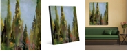 "Creative Gallery Watercolor Italian Cedar Trees Portrait Metal Wall Art Print - 24"" x 36"""