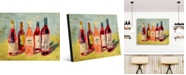 """Creative Gallery Rose Wines Colorful Abstract Portrait Metal Wall Art Print - 16"""" x 20"""""""