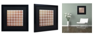 "Trademark Global Color Bakery 'Xmas Houndstooth 4' Matted Framed Art - 16"" x 16"""