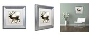"Trademark Global Color Bakery 'Going Wild I' Matted Framed Art - 11"" x 11"""