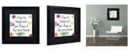 "Trademark Global Color Bakery 'Happy' Matted Framed Art - 16"" x 16"""