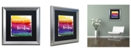 "Trademark Global Color Bakery 'Somewhere' Matted Framed Art - 16"" x 16"""