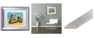 "Trademark Global Dean Russo 'I'm Waiting' Matted Framed Art - 11"" x 14"""