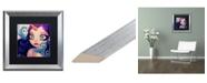 "Trademark Global Natasha Wescoat 'A Little Birdy Told Me' Matted Framed Art - 16"" x 16"""