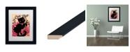 "Trademark Global Natasha Wescoat 'Le Chat Noir' Matted Framed Art - 11"" x 14"""