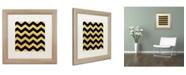 "Trademark Global Color Bakery 'Xmas Chevron 5' Matted Framed Art - 16"" x 16"""