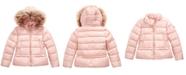 Michael Kors Toddler Girls Faux-Fur-Trim Hooded Puffer Jacket