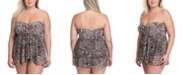 Profile by Gottex Plus Size Wild Thing Strapless One-Piece Swimsuit