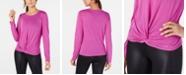 Calvin Klein Twist-Front Long-Sleeve Top