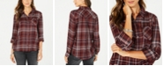 Style & Co Petite Plaid-Print Top, Created for Macy's