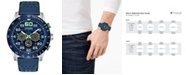 Citizen Eco-Drive Men's Chronograph Primo Blue Leather Strap Watch 44mm
