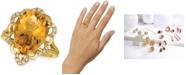 Le Vian Cinnamon Citrine (6-1/4 ct. t.w.) & Nude Diamonds (1/5 ct. t.w.) Statement Ring in 14k Gold