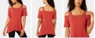 JM Collection Cold-Shoulder Embellished Top, Created for Macy's