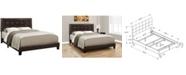 Monarch Specialties Queen Leather Look Bed
