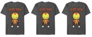 Marvel Men's Comic Collection Kawaii Iron Man Short Sleeve T-Shirt