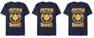 Marvel Men's Captain Marvel Retro Captain Marvel Emblem Short Sleeve T-Shirt