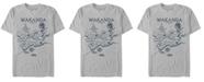 Marvel Men's Black Panther Wakanda World Map Short Sleeve T-Shirt