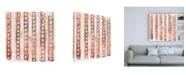 "Trademark Global June Erica Vess Red Earth Textile IX Canvas Art - 15.5"" x 21"""