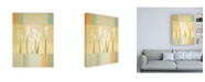 "Trademark Global Pablo Esteban Calla Lilies on Beige Pattern Canvas Art - 19.5"" x 26"""