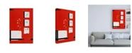 "Trademark Global Pablo Esteban Flowers on Red Background Canvas Art - 19.5"" x 26"""