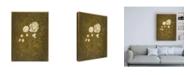 "Trademark Global Pablo Esteban White Roses with Scrolls Canvas Art - 19.5"" x 26"""