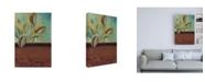 "Trademark Global Pablo Esteban Greenery with Scrolling Border Canvas Art - 27"" x 33.5"""