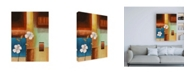 "Trademark Global Pablo Esteban Flowers and Squares Canvas Art - 36.5"" x 48"""