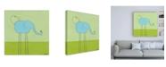 "Trademark Global June Erica Vess Stick leg Elephant I Childrens Art Canvas Art - 15.5"" x 21"""