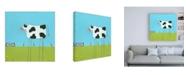 """Trademark Global June Erica Vess Stick leg Cow II Childrens Art Canvas Art - 15.5"""" x 21"""""""