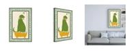"Trademark Global June Erica Vess Rub a Dub Dino II Childrens Art Canvas Art - 15.5"" x 21"""
