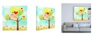 "Trademark Global June Erica Vess Hoots & Hearts II Canvas Art - 36.5"" x 48"""