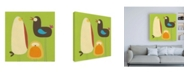 "Trademark Global June Erica Vess Feathered Friends II Canvas Art - 36.5"" x 48"""