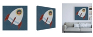 "Trademark Global June Erica Vess Monkeys in Space I Canvas Art - 15.5"" x 21"""