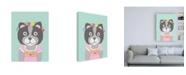 "Trademark Global Chariklia Zarris Fancy Animals III Canvas Art - 36.5"" x 48"""